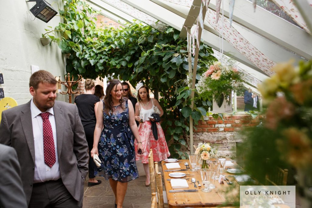 Paul & Clare's Wedding in The Glasshouse at The Secret Garden